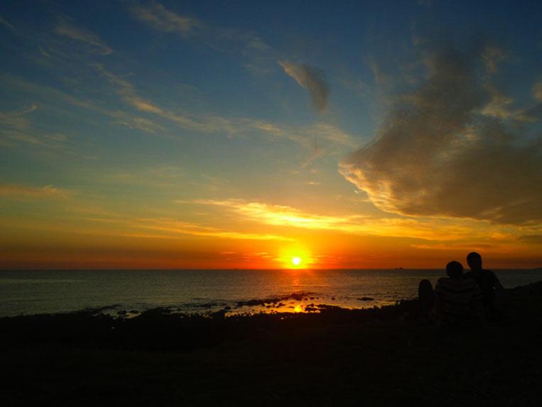Rambla Punta Carretas. Atardecer divino