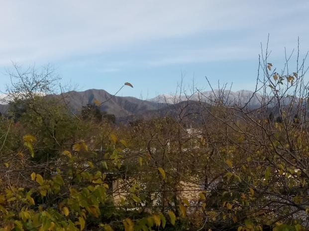 Pre cordillera, desde la casa de mi host. Mendoza, Argentina